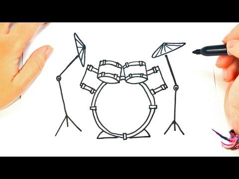 Como dibujar una Batería paso a paso | Dibujo fácil de Batería