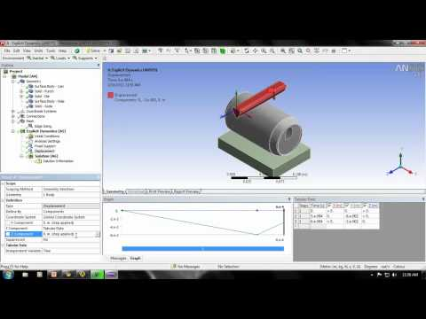 EXPLICIT DYNAMIC ANALYSIS using ANSYS WORKBENCH