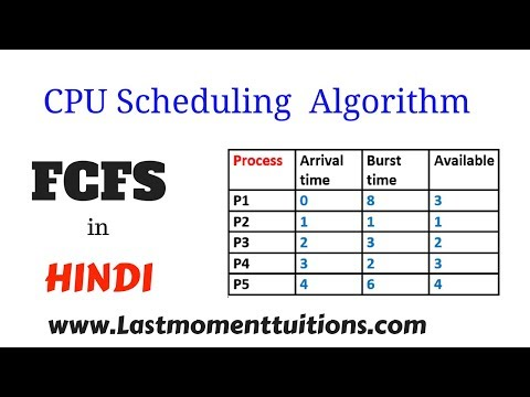 FCFS ( First come first serve ) in hindi | Operating System Series