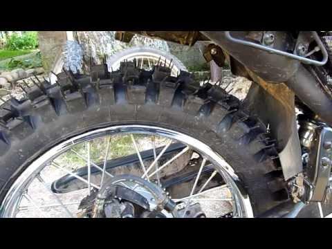 Переход с 17/19 на 18/21 диски. Установка кроссовой резины (18 серия) /Stels Enduro 250/