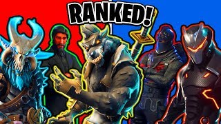 EVERY Fortnite Tier 100 Skin RANKED! (Ranking All Fortnite Skins)