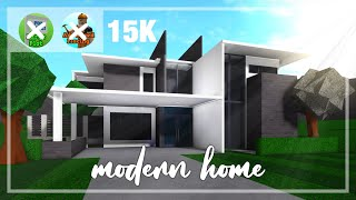 Roblox // Bloxburg - Modern Home Tutorial Step By Step Part I [15K]