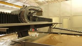 huffman wj 35a waterjet with fanuc 150 m control 30ft x10ft x 3fth