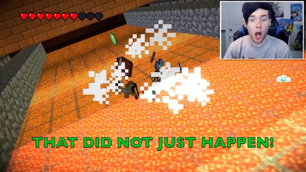 Youtubers React To Spleef Deaths In Minecraft Story Mode Youtube