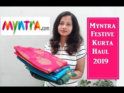 myntra-festive-kurta-haul- -festive-kurta-haul-2019- -latest-kurta-review- -ranjana-r