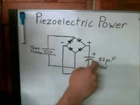 Power from walking Piezoelectric energy