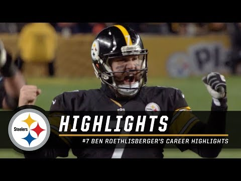 Ben Roethlisberger is one of the best to wear Black & Gold  Career Highlights