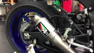 AustinRacing GP2R SLIP-ON With Titanium Can for YZF-R1