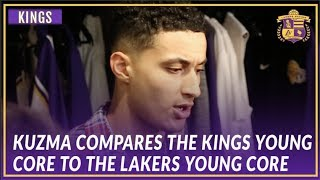 Lakers Post Game: Kyle Kuzma Compares the Lakers Young Core to the Kings Young Core