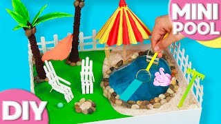 DIY - How To make a Miniature Swimming Pool Zen Garden - Doll Pool with Water | Stress reliever