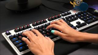 Max Keyboard Nighthawk X9 Cherry MX Red O-Rings Sound and Typing Speed Comparison