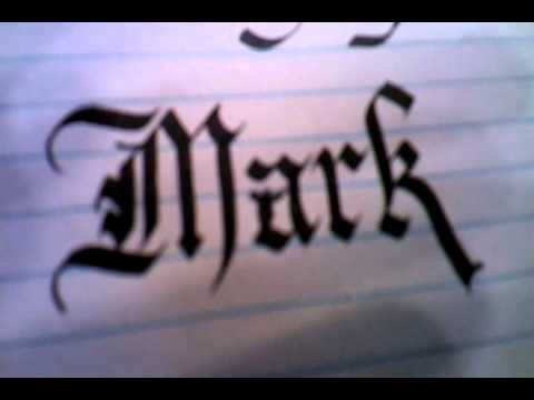 Calligraphy Lesson Part 1 Gothic Chancery Free See