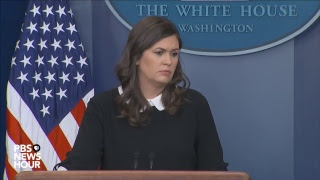 WATCH LIVE: White House press secretary Sarah Sanders holds news briefing