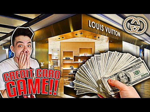 CREDIT CARD GAME AT DESIGNER CLOTHING STORES!!