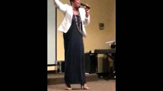 Nikia Hammonds-Blakely ministers in word & song
