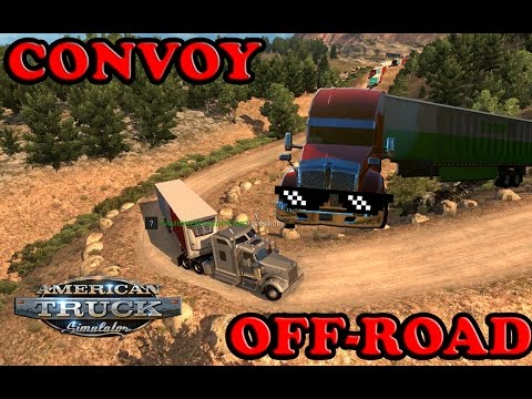 CONVOY OFF-ROAD CARRETERAS EXTREMAS!! | AMERICAN TRUCK SIMULATOR MULTIPLAYER