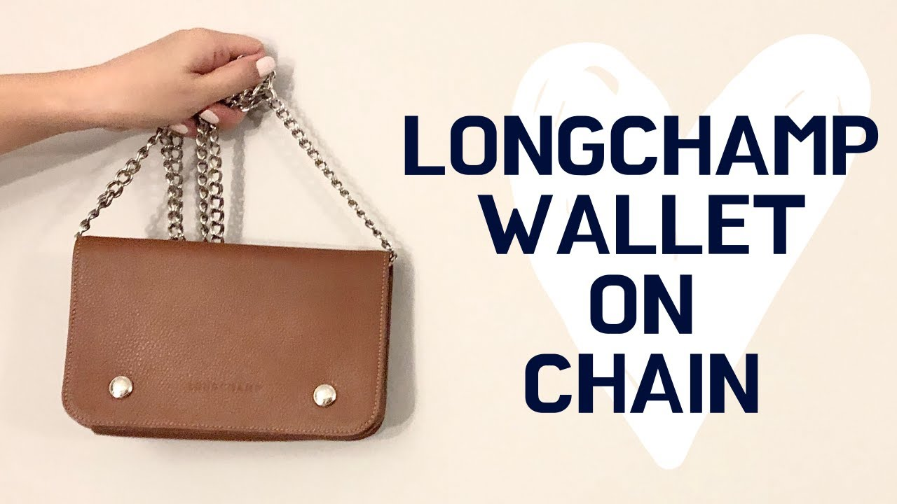 LONGCHAMP Leather Wallet on Chain Review