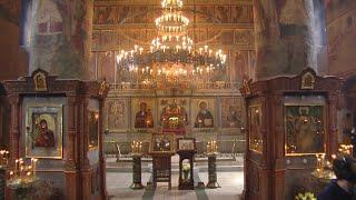 Божественная литургия 20 ноября 2020, Сретенский мужской монастырь, г. Москва