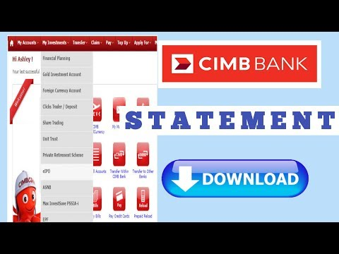Cimb Clicks Download Bank Statement Cara Cetak E Statement Atau Penyata Cimb Click Youtube