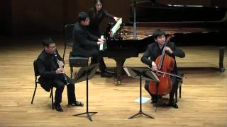 W A Mozart Trio for clarinet,cello, and piano  kv 498 Kegelstatt
