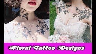 Video Floral Tattoo Designs - Flower Tattoos Black And White - Tattoo download MP3, 3GP, MP4, WEBM, AVI, FLV Juli 2018