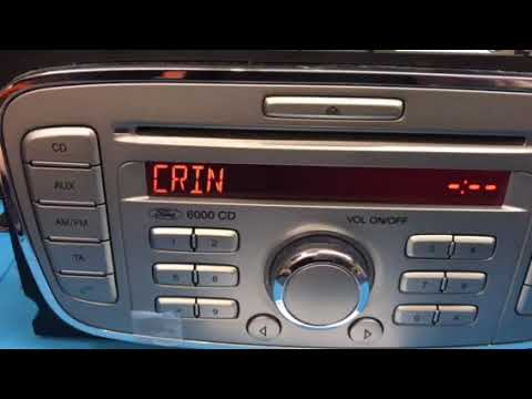 Ford 6000 CD Radio Code Instructions