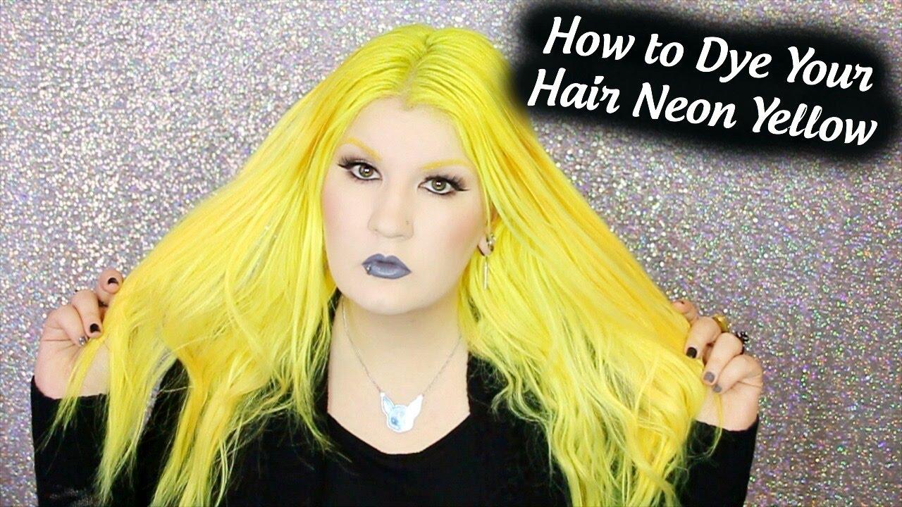 dye hair neon yellow