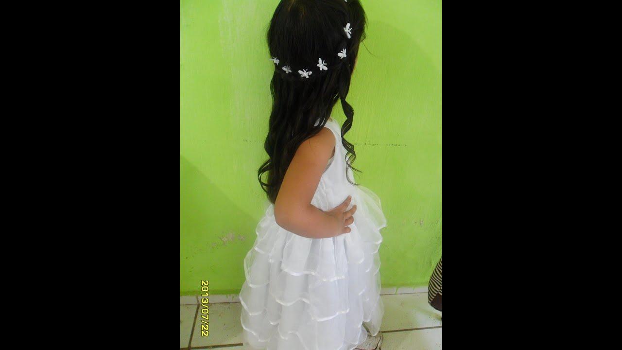 Peinado de fiesta para ni a con rizos girl hairstyle - Peinados fiesta faciles ...