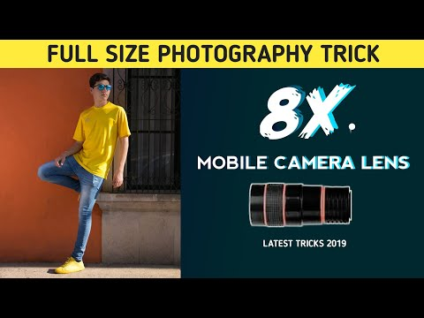 8x Mobile camera lans click full size image like DSLR camera portrait photography trick-2019