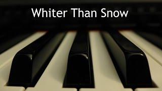 Whiter Than Snow - piano instrumental hymn