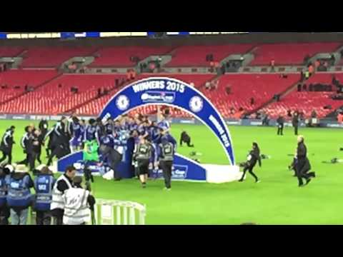 Jose Mourinho falling over with the league cup