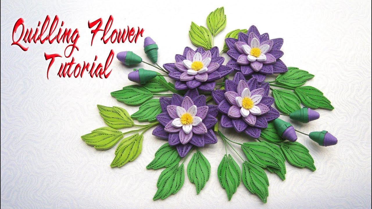 Quilling Flower V5 Tutorial Diy Paper Flower Handmade Decoration