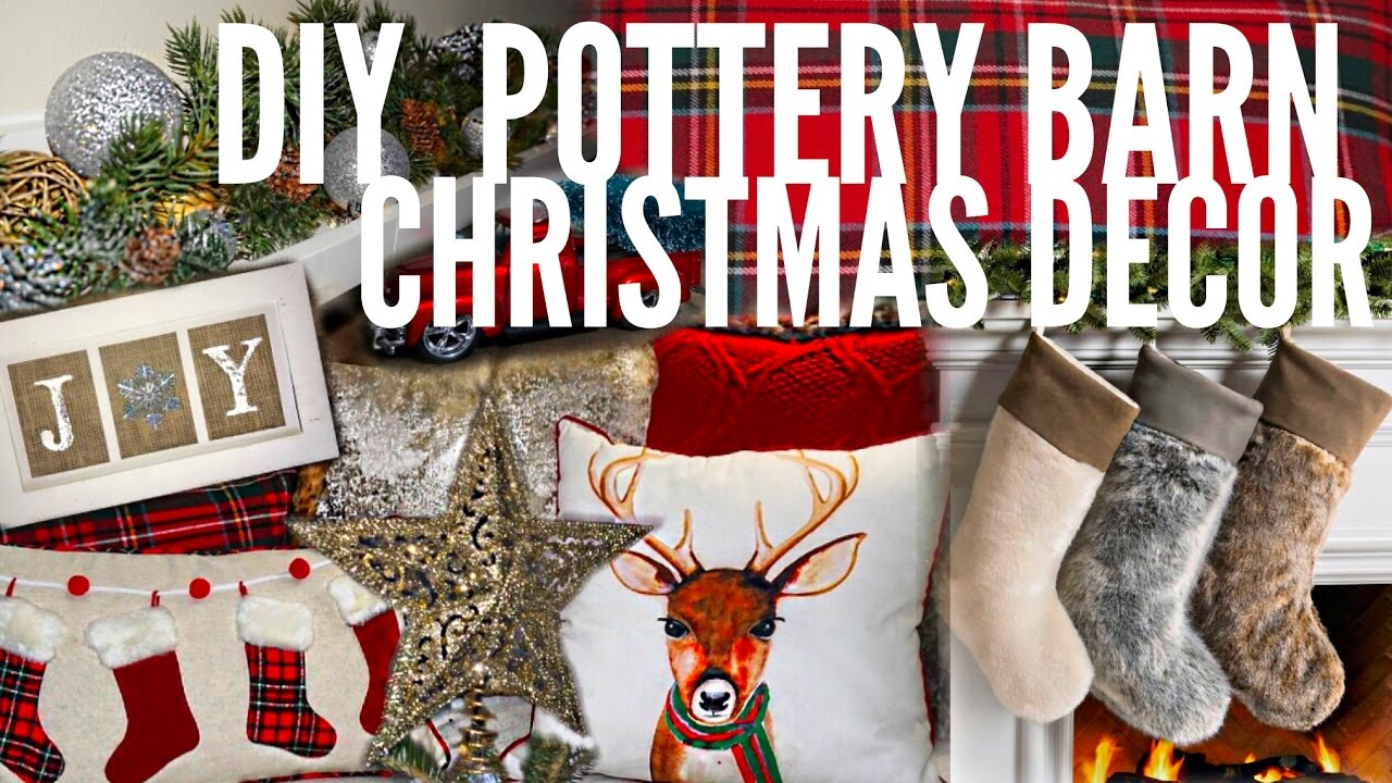 Easy Diy Christmas Home Decor Pottery Barn Inspired Beeisforbudget Youtube