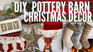 Easy DIY Christmas Home Decor | pottery barn inspired | Beeisforbudget