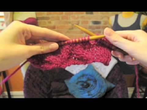 How To Knit Cables Free Cowl Neck Scarf Knitting Patternv Youtube