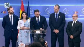 Santiago Abascal anuncia que Vox se querella contra Zapatero por las actas de ETA