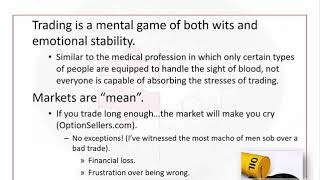 The Only Magic in Commodity Trading: Humility (Trading Psychology and Emotional Management)