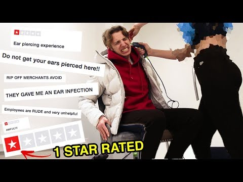 I got my EAR PIERCED at the WORST REVIEWED piercing shop in MY CITY *LONDON* (1 STAR RATED)