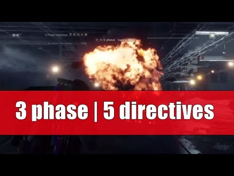 UNDERGROUND / 3 PHASE OPERATION / 5 DIRECTIVES / SOLO / THE DIVISION 1.7