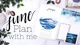 PLAN WITH ME | June 2018 + May Flip Through