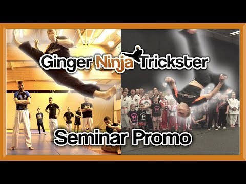 Ginger Ninja Trickster Seminar/Workshop Promo | Martial Arts, Taekwondo Kicks & Flips