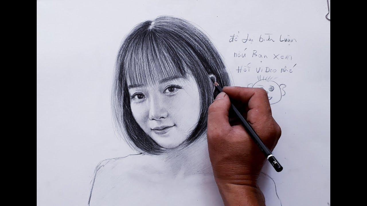 Vẽ chân dung bằng bút chì . cách tả da bằng bút chì . vẽ truyền thần .  vẽ không khó