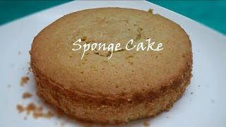 Sponge Cake In Microwave Oven In Easy Way (కేకు తయారుచేయుట)