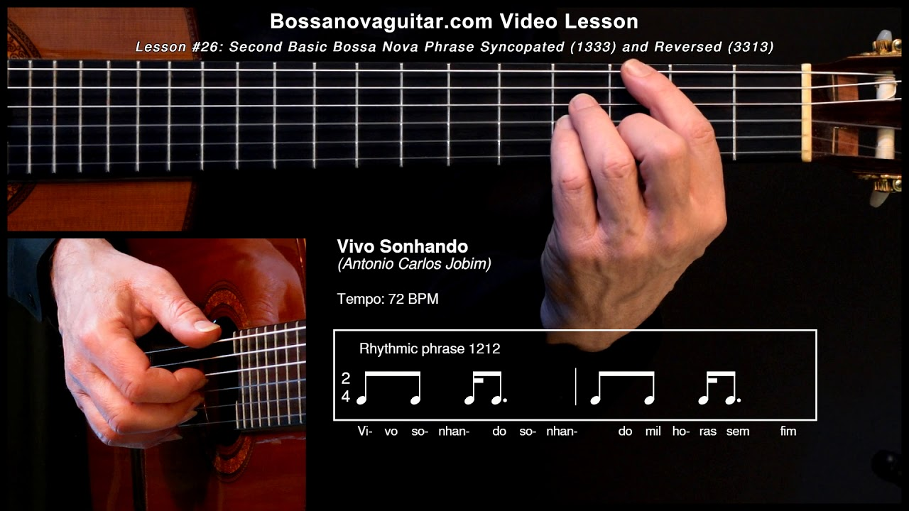 Vivo Sonhando Bossa Nova Guitar Lesson 26 Second Basic