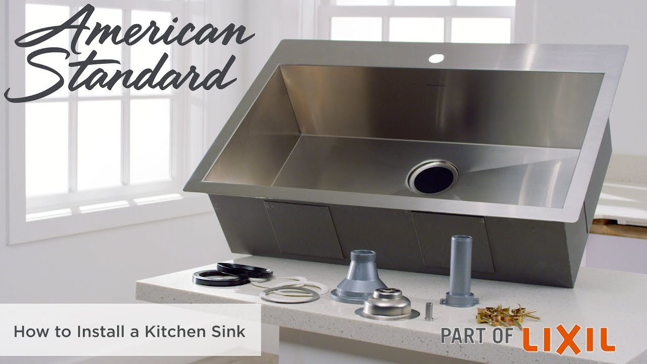 How to Install a Kitchen Sink - YouTube