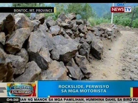 BP: Rockslide, perwisyo sa mga motorista sa Bontoc, Mt. Province
