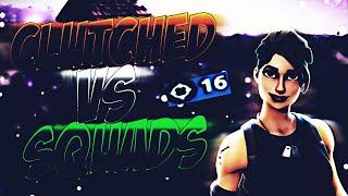 #1 Clutch vs squads !! | Fortnite Mobile