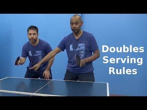 Doubles Serving Rules Table Tennis Pingskills
