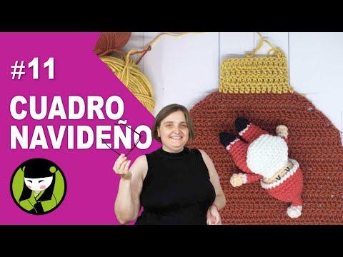 Chimenea de papa noel a crochet 11 forma parte del cuadro amigurumi navideño