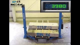 (TEST) Dvousloupový hydraulický zvedák RP-6253B2, 3.2t, 400V